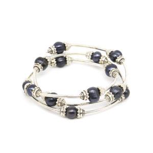 925 Sterling Silber Armband aus Perlen