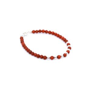 Korallen Armband mit CZ und Perlen