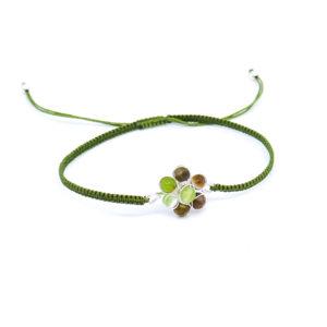 925 Sterling Silber Armband mit Halbedelstein Perlen