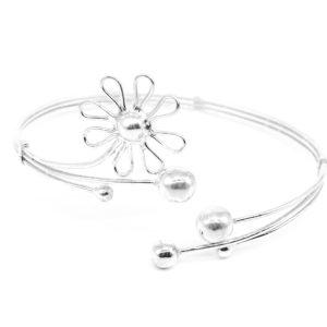 925 Sterling Silber Blumenarmreif