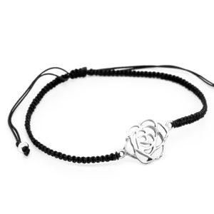 Rose mit verstellbarem Fadenarmband