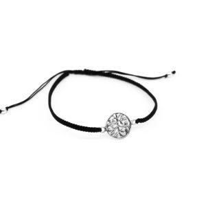 925 Sterling Silber Lebensbaum mit verstellbarem Fadenarmband