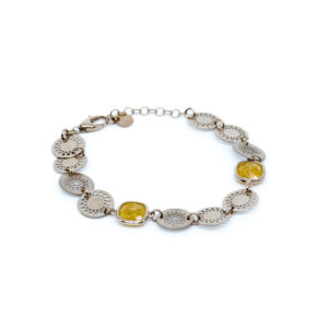 925 Sterling Silber Armband mit Zitrin