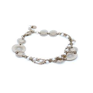 925 Sterling Silber Armband mit Perlen