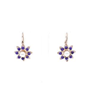 Vergoldete Ohrringe mit Perlen