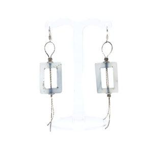 925 Sterling Silber Ohrringe aus Edelstein