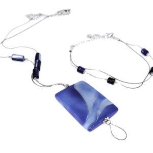 Halskette mit Armband  mit Achat