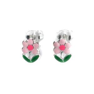 Ohrringe, verziert mit farbigem Email