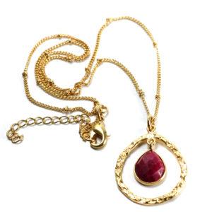 Halskette vergoldet mit Edelsteine