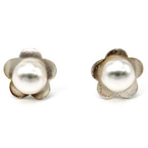 925 Sterling Silber Ohrstecker mit Süßwasserperlen