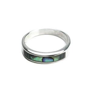 925 Sterling Silber Ring verziert mit Muschel