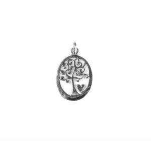 925 Sterling Silber Lebensbaum Anhänger
