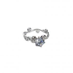 925 Sterling Silber Swirl Ring