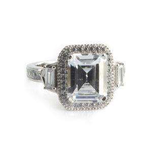 925 Sterling Silber Ring, verziert mit Zirkon