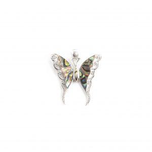 925 Sterling Silber Schmetterling Anhänger mit Perlmutt