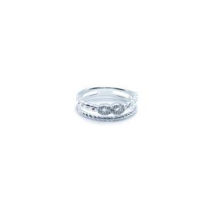 Infinity-Ring aus 925er Sterlingsilber, unendliche Liebe