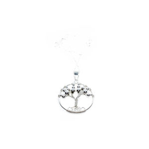 925 Sterling Silber Ball und Lebensbaum Anhänger