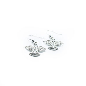 925 Sterling Silber Engel Ohrringe