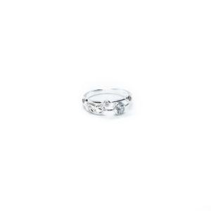 925 Sterling Silber Ring mit Knoten verziert