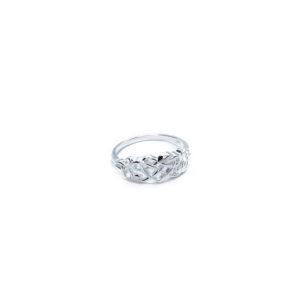 925 Sterling Silber Ring mit keltischen und Herzen