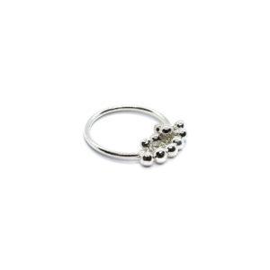 925 Sterling Silber Ring mit mehreren Kugeln