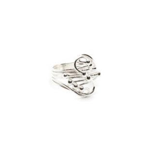 925 Sterling Silber Ring mit Kugel