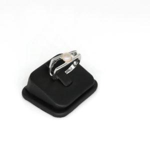 925 Sterling Silber Ring mit Süßwasserperlen verziert