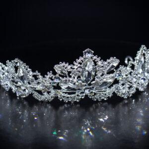 Funkelndes Kristall Diadem Schmuck zur Hochzeit