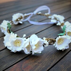 Blumenkranz für Hochzeit, Erstkomunion oder Fotoshooting