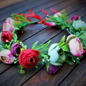 Blumenkranz Bunte Rosen