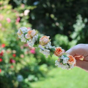 Blumen Haarreife Rosa