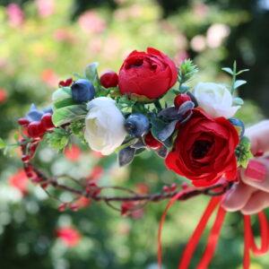 Blumenkranz Pfingstrosenblumen