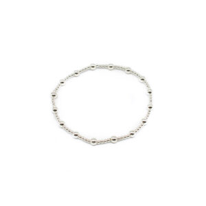 925 Sterling Silber Ball Stretch Armband
