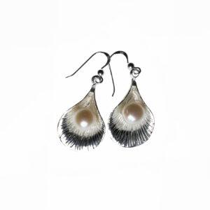 925 Sterling Silber Ohrringe mit Süßwasserperlen verziert