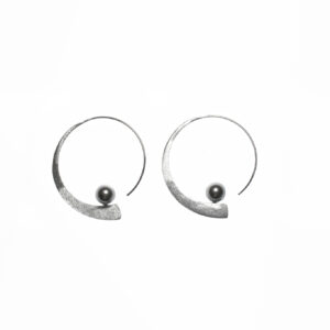 925 Sterling Silber Ohrringe mit Perlen verziert