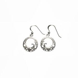 Keltische Ohrringe aus 925er Sterlingsilber