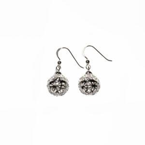 925 Sterling Silber Blume Ohrringe