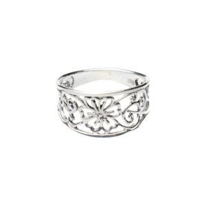 925 Sterling Silber Ring Blume