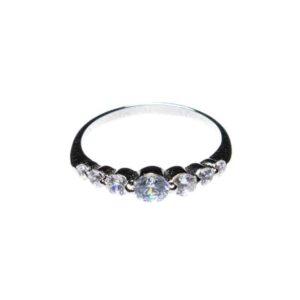 925 Sterling Silber Ring mit Kristallen