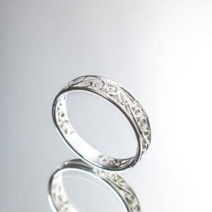 925 Sterling Silber Wirbelring