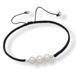 Armband aus 925er Sterlingsilber mit Perlen