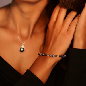 925 Sterling Silber Halskette mit Süßwasserperle