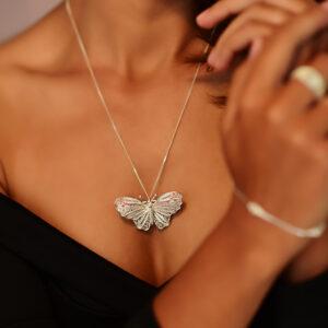 Brosche Schmetterling aus Sterling Silber 925