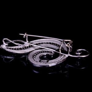 Brosche Violinschlüssel aus Sterling Silber 925