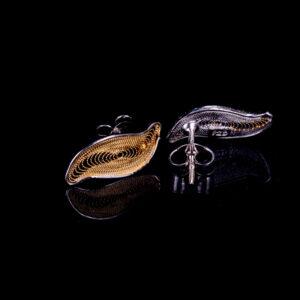 Vergoldete Ohrstecker aus Sterling Silber