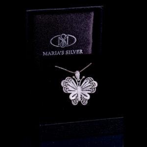 Schmetterling Halskette
